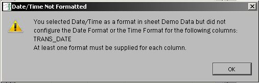 Date/Time format not selected for Excel Import