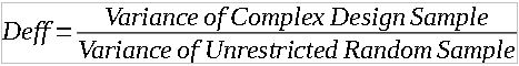 design effects variance ratio formula
