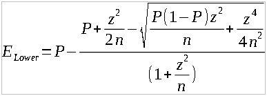 lower margin of error formula