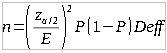 Formula for sample size of political polls