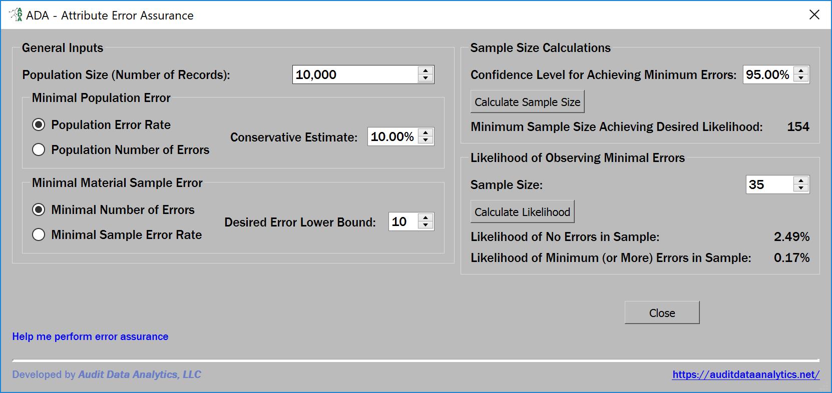 attribute error assurance