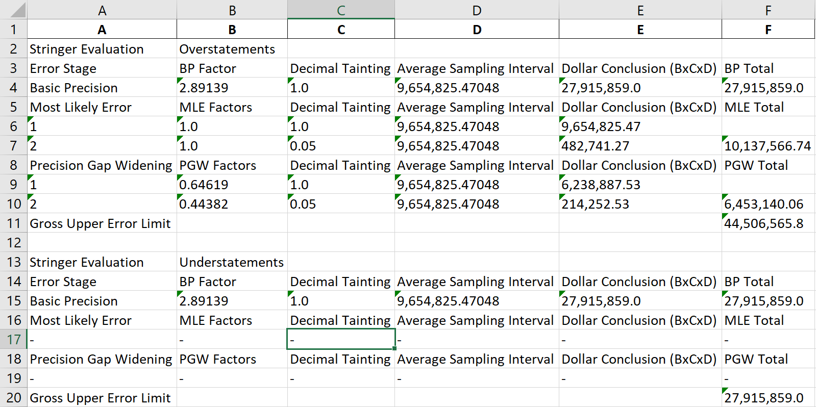 mus detailed calculations for stringer bound